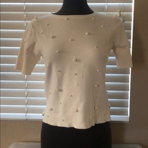 Zara Pearl short sleeve top